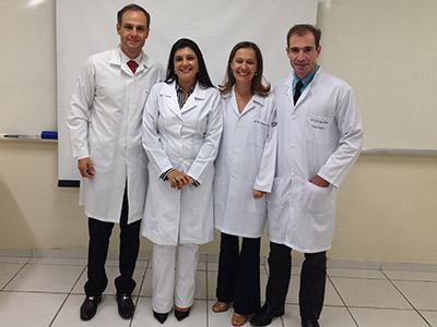 Drs. Mauro Tosta , Khalila Chequer Cotrim, Alessandra Cassoni Ferreira e José Augusto Rodrigues