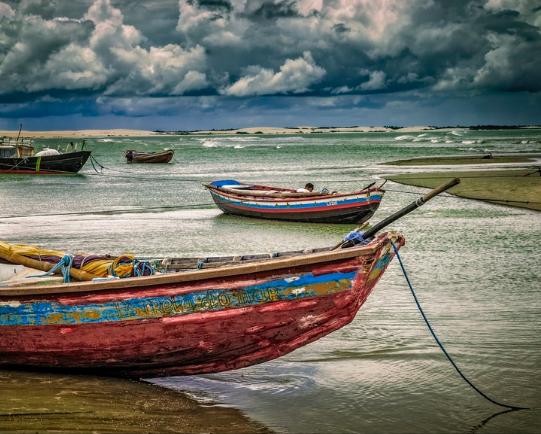 Barcos em Jericoaquara (CE)