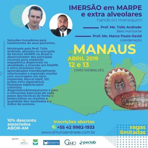 IMERSÃO EM MARPE E EXTRA ALVEOLARES HANDS ON em manequins – MANAUS