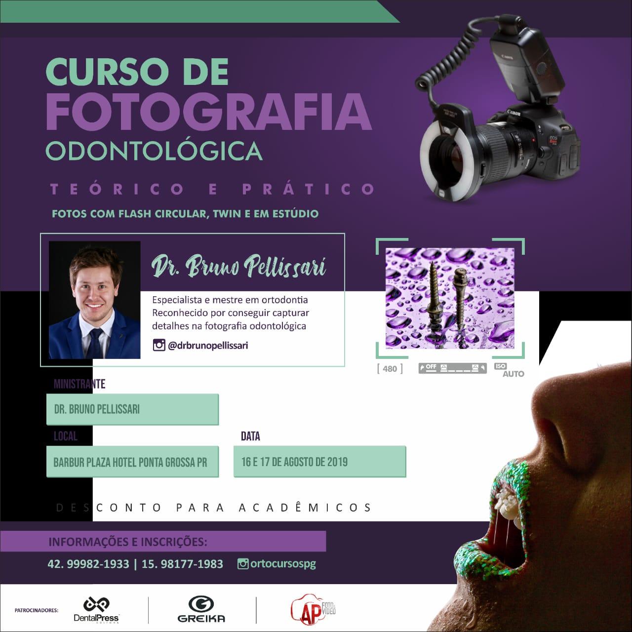 Curso de Fotografia Odontológica em ponta Grossa PR