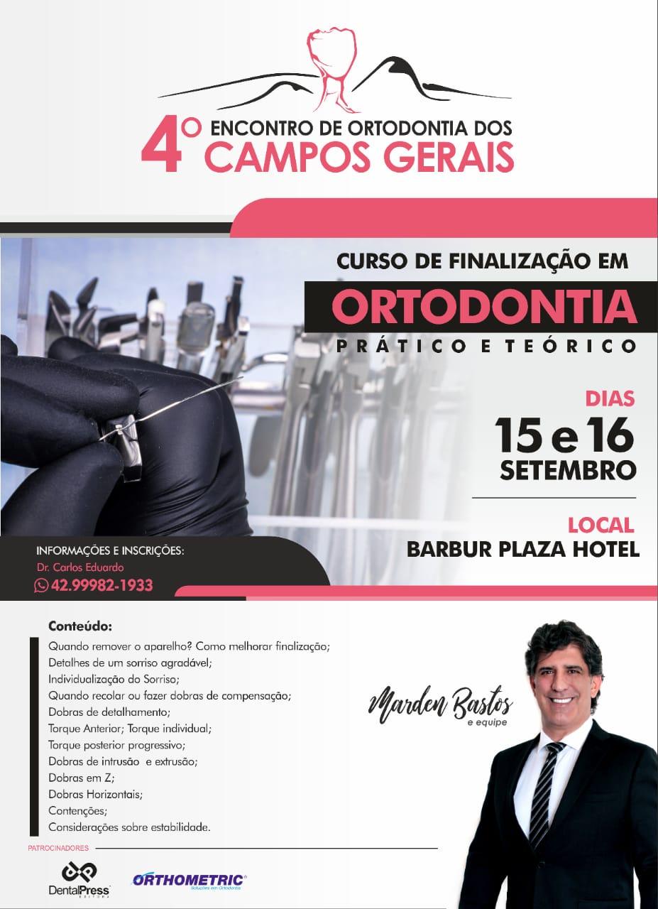 Curso de Finalização Prof Marden Bastos em Ponta Grossa PR