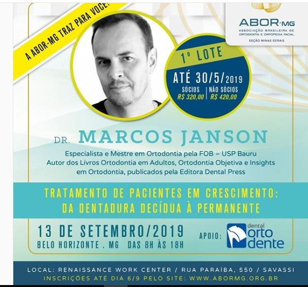 Dr Marcos Janson - Tratamento de Pacientes em Crescimento: Da Dentadura Decídua à Permanente